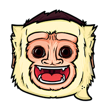 Stickos Monkey Face Sticker